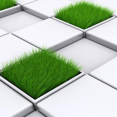 газон и плитка